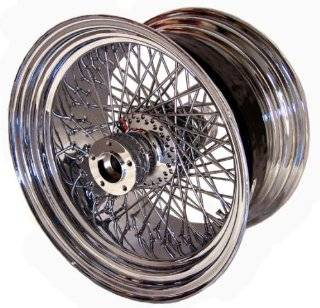 "Chrome Round 80 Spoke 18"" X 10.5"" Rear Wheel for Harley Davidson Wide Tire Custom Models Automotive"