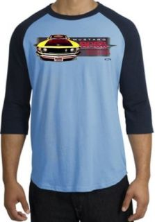 Ford Yellow Mustang Shirt   Boss 302 Mens Raglan Tee   Blue/navy at  Men�s Clothing store