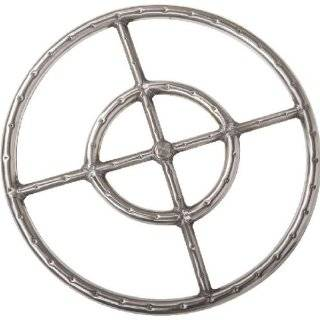 18 inch 304 Stainless Round Double Propane Gas Fire Pit Ring  Outdoor Propane Firepit  Patio, Lawn & Garden