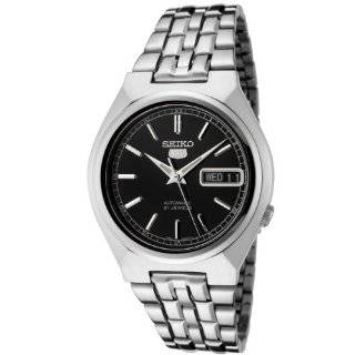 Seiko Men's SNK307K Seiko 5 Automatic Black Dial Stainless Steel Watch Seiko Watches