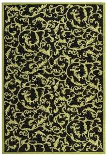 Safavieh Chelsea Collection HK307B Hand Hooked Wool Area Rug, 6 Feet by 9 Feet, Black