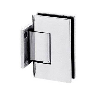 CRL Chrome Anaheim Wall Mount Short Back Plate Shower Door Hinge by CR Laurence