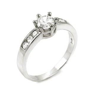 Fantasy Jewelry Box Womens Mena's Small Carat CZ Solitaire Ring Jewelry