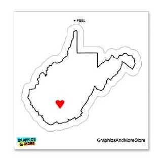 West Virginia Love   Heart   State Pride   Window Bumper Locker Sticker Automotive