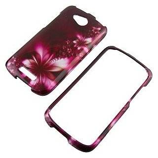 Feather Flowers Protector Case for HTC One VX Cell Phones & Accessories
