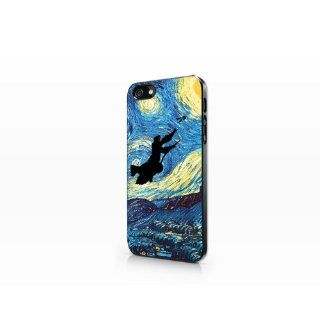 TIP5 322 Starry Night   Harry Potter, 2D Printed Black case, iPhone 5 case, Hard Plastic Case Cell Phones & Accessories