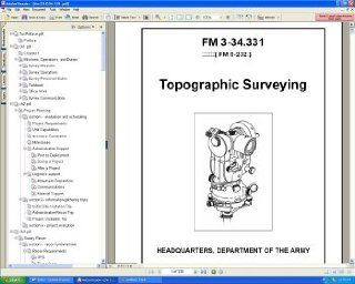 U.S. Army FM 3 34.331 Topographic Surveying Surveyors Training And Surveyor Reference Field Manual Guide Book on CD ROM