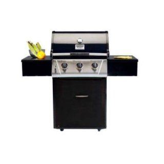 VCS332ESP 332 Signature Series Freestanding 3 Burner Liquid Propane BBQ Grill with 673 sq. in. Total Cooking Surface FlavorSeal System Commercial Grade Casters Black  Natural Gas Grills  Patio, Lawn & Garden
