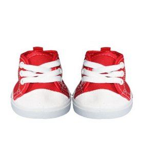 "Red Tennis Shoes Teddy Bear Clothes Fits Most 14""   18"" Build a bear, Vermont Teddy Bears, and Make Your Own Stuffed Animals Toys & Games"