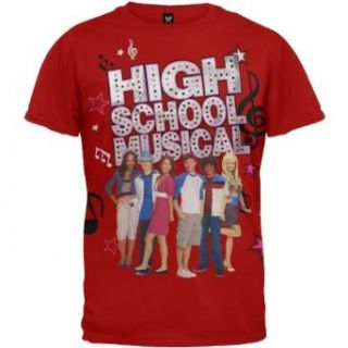 High School Musical   Music Notes Youth T Shirt Clothing