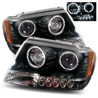 Jeep Grand Cherokee Black CCFL Halo Projector Headlights /w Amber Automotive