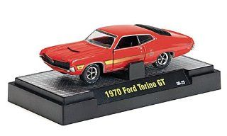Ford Torino GT 351, redorange , 1970, Model Car, Ready made, M2 Machines 164 M2 Machines Toys & Games
