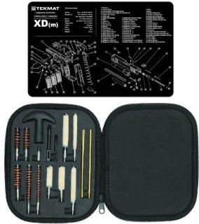 Ultimate Arms Gear Gunsmith & Armorer's Cleaning Work Bench Gun Mat Springfield Armory XD (m) XDm + Professional Tactical Cleaning Tube Chamber Barrel Care Supplies Kit Deluxe 17 pc Handgun Pistol Cleaning Kit in Compact Molded Field Carry Case for