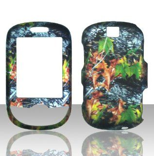 2D Camo Leaves Samsung Smiley T359 T Mobile Case Cover Hard Phone Cover Case Faceplates Cell Phones & Accessories