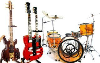 The Led Zeppelin Awesome Miniature Guitar and Drums Set of 3