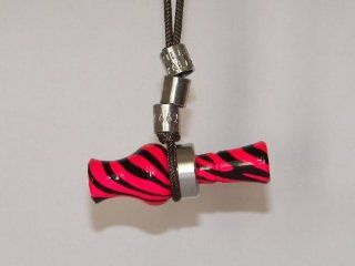 KillerKallz Working Mini Wood Duck Call Necklace (Pink/Black Zebra)  Sports & Outdoors