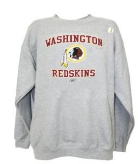 NFL Washington Redskins Crew Neck Sweatshirt, Gray, Medium  Sports Fan Sweatshirts  Clothing