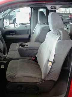 Exact Seat Covers, FD9 F369/F366 V7, 2004 2008 Ford F150 XLT XCab Front and Back Set Custom Exact Fit Seat Covers, Gray Velour Automotive