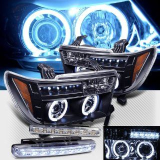 2007 2012 TOYOTA TUNDRA DUAL CCFL HALO PROJECTOR HEAD LIGHTS + 8 LED FOG BUMPER Automotive