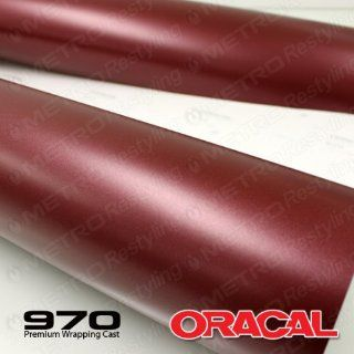 ORACAL 970RA 369 MATTE Red Brown Metallic Wrapping Cast Vinyl Car Wrap Film 5ft x 2ft (10 Sq/ft) Automotive