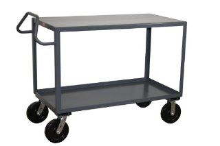 Jamco Products EN372 P8 GP 30 Inch by 72 Inch 4800 Pound Capacity Ergonomic Handled 2 Shelf Service Cart