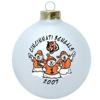 Cincinnati Bengals 2007 Round Snowman Christmas Tree Ornament   Christmas Ball Ornaments