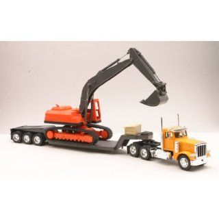 Toy / Game New Ray Peterbilt Model 379 Truck (Incredible details & craftsmanship) w/ realistic backhoe vehicle Toys & Games