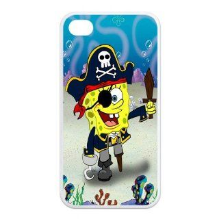 Mystic Zone SpongeBob SquarePants iPhone 4 Case for iPhone 4/4S Cover Famous Cartoon Fits Case KEK1062 Cell Phones & Accessories