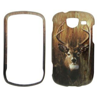 Samsung Brightside U380 Verizon   Deer on Grass   Camo Camouflage   Hunting Shinny Gloss Finish Hard Plastic Cover, Case, Easy Snap On, Faceplate. Cell Phones & Accessories