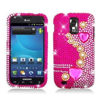 PEARL PINK Rhinestone/Crystal/Bling/Diamond Hard Case Cover For Samsung Galaxy S II Hercules T989 (T Mobile) Cell Phones & Accessories