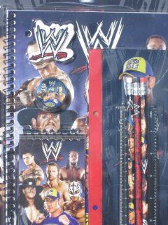 WWE John Cena Randy Orton Rey Mysterio Pencil Case Folders Notebook School Supplies Toys & Games