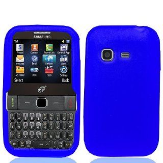 Blue Soft Silicone Gel Skin Cover Case for Samsung SGH S390G Cell Phones & Accessories