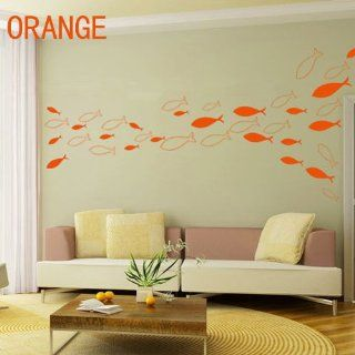 7 Colors DIY Fish Decal Decor Removable Vinyl Sticker Wall Art Decal (7x56392)