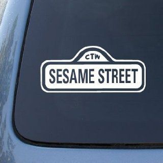 SESAME STREET SIGN   Vinyl Car Decal Sticker #A1640  Vinyl Color White Automotive