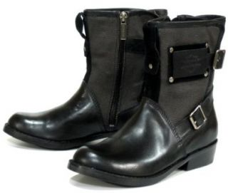Harley Davidson Womens Devonshire Black Leather Boots 7 Shoes