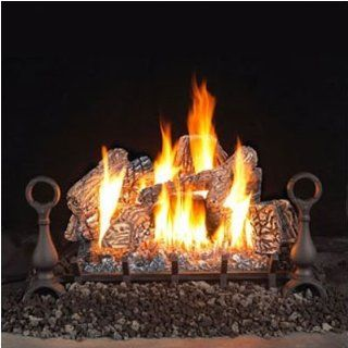 "Bundle 79 Vent Free Fireplace Gas Log Kit (2 Pieces) Size 24"", Fuel Type Propane   Two Sided Gas Logs"