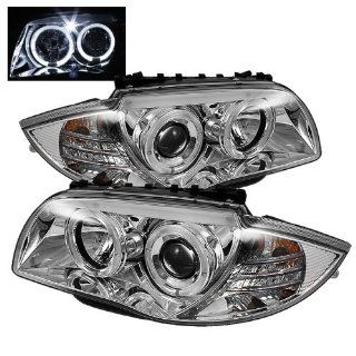 BMW E87 128i 135i 08 09 10 Halo Projector Headlights   Chrome (Pair) Automotive