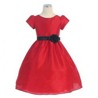 Sweet Kids Baby Girls Size 18M Red Classic Dupioni Christmas Dress Sweet Kids Clothing