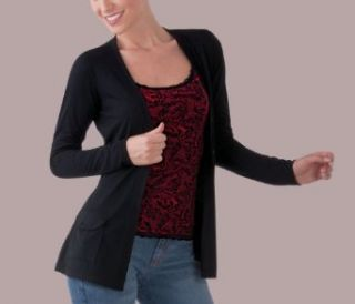 Women's Button Front Long Sleeve Cardigan w/ Tie Waist Clothing