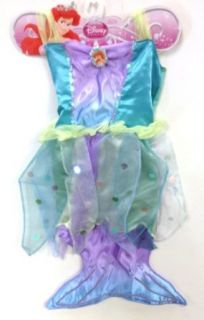 Disney Princess Ariel Mermaid Dress Up Gown 4 6X Clothing