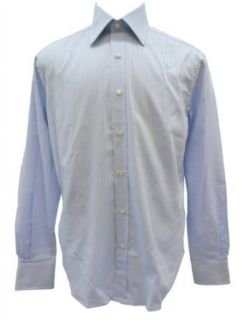 Valentino Men's Wide Stripe Dress Shirt (Lt. Blue/White; 42 IT/16.5 US) Clothing