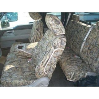 Exact Seat Covers, FD41 F461/F463 SA, 2009 Ford F150 Front 40/20/40 Split Seats and Rear 60/40 Split Bottom Bench Custom Exact Fit Seat Covers, Savanna Camo Endura Automotive