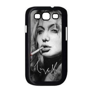 SamSung Galaxy S3 I9300/I9308/I939 Case with Angelina Jolie Smoking theme Black Case Cover Computers & Accessories