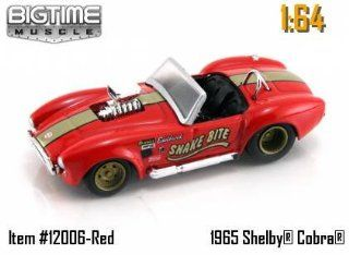 "Jada Dub City Big Time Muscle Red with Gold Stripe ""Snake Bite"" 1965 Shelby Cobra 427 S/C 164 Scale Die Cast Car Toys & Games"
