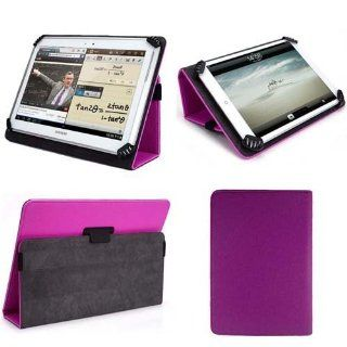 "Purple Flip Leather Wallet Folio Smart Case Stand Cover for Apple Ipad 1 2 3 4 Ipad Air Asus 10.1"" Tablet Asus Transformer Pad Infinity Tablet Asus Memo Pad Smart Tablet Asus Vivotab Smart Tablet Asus Eee Pad Tablet Acer Iconia Tablet Archos 101 G9 G9"