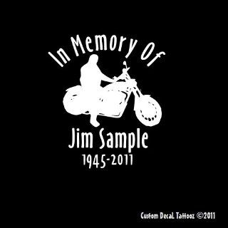 "In Memory of Biker Customized Car Window Decal Sticker 6"" Automotive"