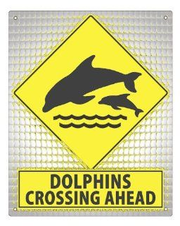 DOLPHINS street Sign animal marine kids boys girls funny room wall decor art 432
