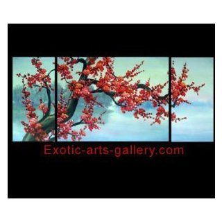 Abstract Art Paintings Canvas Art Giclee Prints On Canvas Framed Wall Art Japanese Cherry Blossom Art