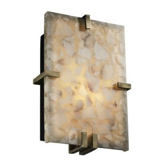 Justice Design Group Alabaster Rocks Clips 2 Light Wall Sconce