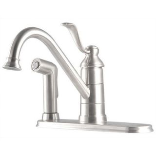 Price Pfister Portland One Handle Centerset Kitchen Faucet with Spray